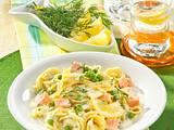 Spaghetti mit Lachs und Erbsen Rezept