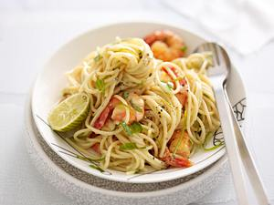 Spaghetti mit Limone und Scampi Rezept
