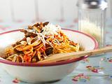 Spaghetti mit Mandel-Paprikasoße Rezept
