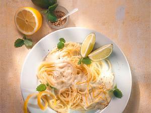 Spaghetti mit Mascarpone-Limettensoße Rezept