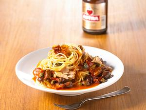 Spaghetti mit Speck und Thunfisch Rezept