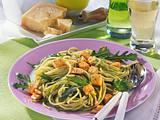 Spaghetti mit Tofu und Rauke-Pesto Rezept