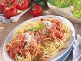 Spaghetti mit Tomaten-Hack-Soße Rezept