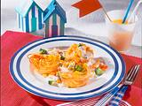 Spaghetti-Nester mit Gemüseragout Rezept
