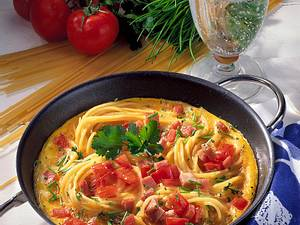 Spaghetti-Omelett Rezept
