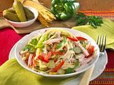 Spaghetti-Salat mit Paprika und Fleischwurst Rezept