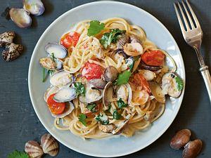 Spaghetti Vongole mit Kokosmilch Rezept