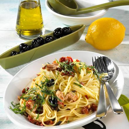 Spaghetti zu Thunfisch-Soße Rezept