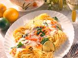 Spaghettini mit Zitronen-Lachs-Soße Rezept