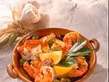 Spanische Garnelen mit Knoblauch und Oliven Rezept