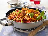 Spanische Paprika-Nudelpfanne Rezept