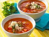Spanische Tomatensuppe mit Hackbällchen Rezept