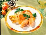 Spargel-Blätterteig-Päckchen zu Lachs Rezept