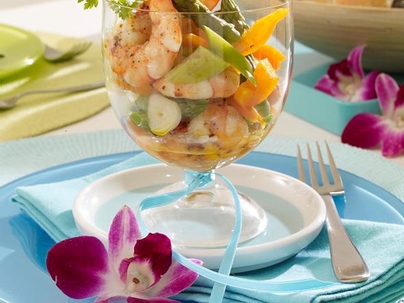 Spargel-Cocktail mit Garnelen Rezept