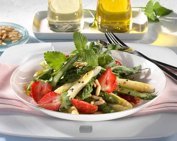 spargel erdbeer salat rezept lecker. Black Bedroom Furniture Sets. Home Design Ideas