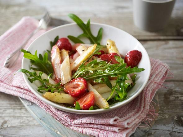 Spargel-Erdbeersalat Rezept