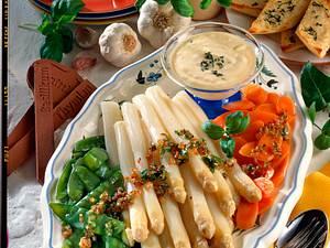 Spargel Gemüseplatte mit Aioli Rezept