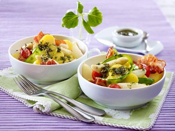 Spargel-Kartoffel-Salat mit Bacon Rezept