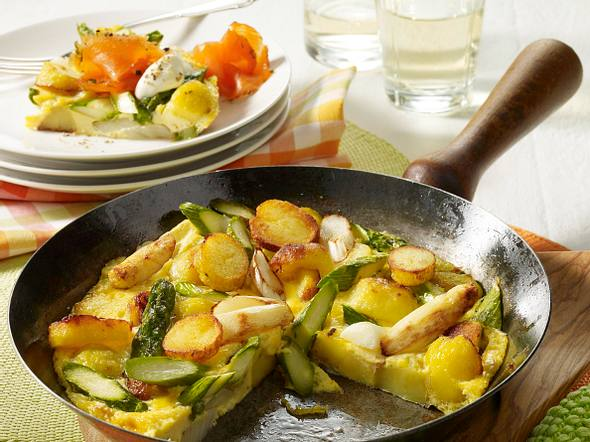 Spargel-Kartoffel-Tortilla Rezept