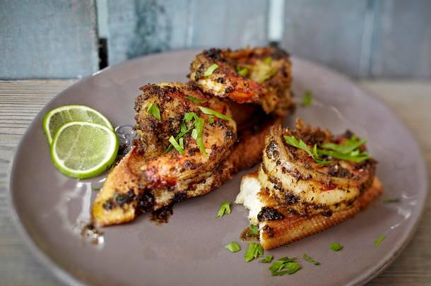 Spicy BBQ-Garnelen aus der Grillpfanne Rezept