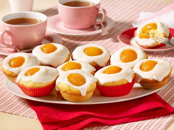 Spiegelei-Muffins mit Aprikosen Rezept