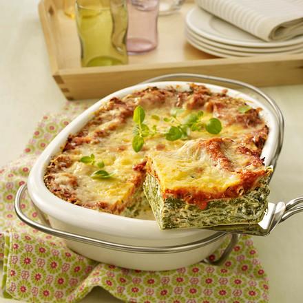 Spinat-Frischkäse-Lasagne Rezept