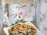 Spinat-Käse-Quiche mit Kirschtomaten Rezept