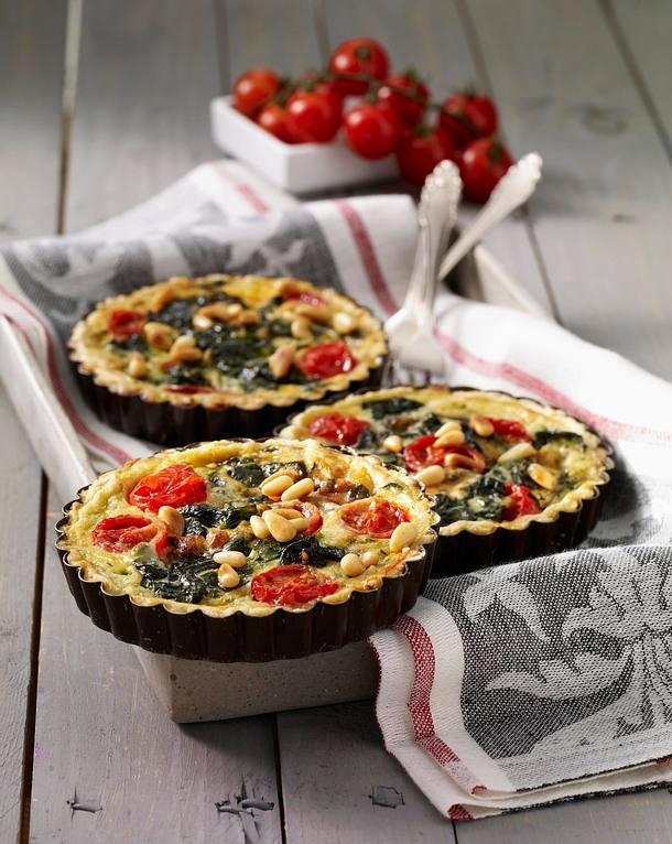 Spinat-Tarteletts mit Gorgonzola Rezept