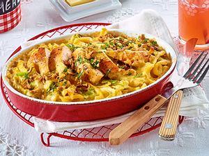Spitzkohl-Spätzle-Gratin mit Hähnchen Rezept