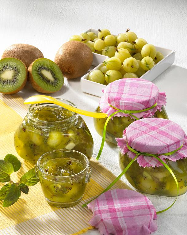 stachelbeer kiwi marmelade rezept lecker. Black Bedroom Furniture Sets. Home Design Ideas