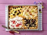 Stachelbeer-Makronen-Kuchen vom Blech Rezept