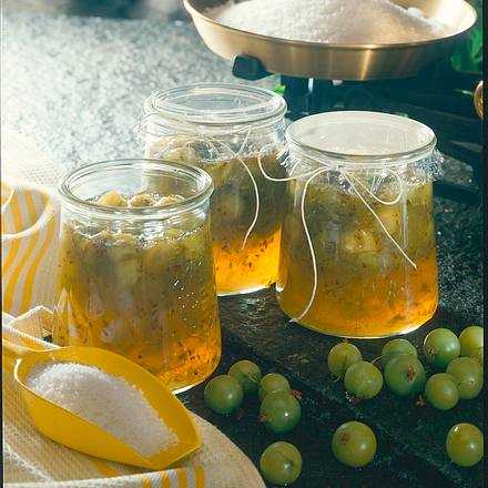 Stachelbeer-Whisky-Konfitüre Rezept