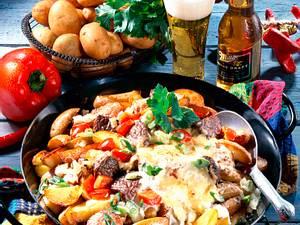 "Steak-Kartoffel-Pfanne ""Texas-Art"" Rezept"