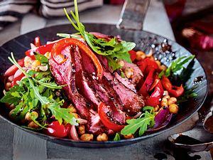 Steak-Pfanne mit Honig-Balsamico Rezept