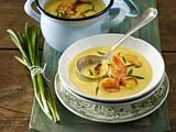 Steckrüben-Suppe mit Garnelen Rezept