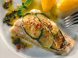 Steinbeißer mit Zucchini überbacken Rezept