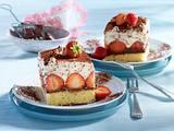 Stracciatella-Erdbeer-Schnitten Rezept