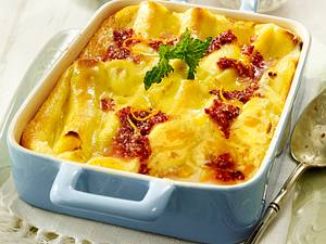 Süße Cannelloni mit Pfirsich-Ricotta-Füllung und süßem Mandelpesto Rezept