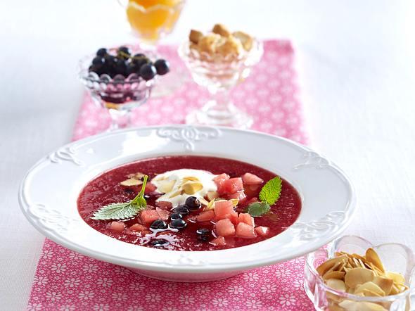 Süße Wassermelonen-Gazpacho Rezept