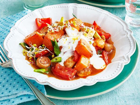 Süßkartoffel-Gemüse-Gulasch Rezept