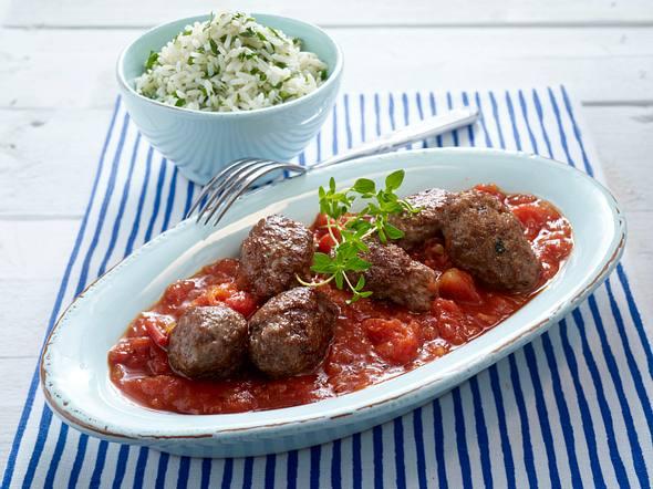 Susukakia (Hackfleischröllchen in Tomatensoße) mit Reis Rezept