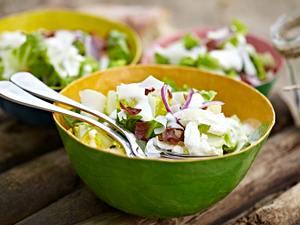 Sylter Caesar Salad mit doppelt Käse Rezept