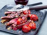 T-Bone Steak mit Tomaten Rezept
