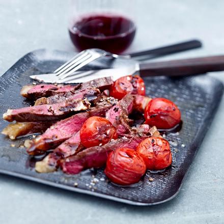 T-Bone Steak mit Tomaten Rezept