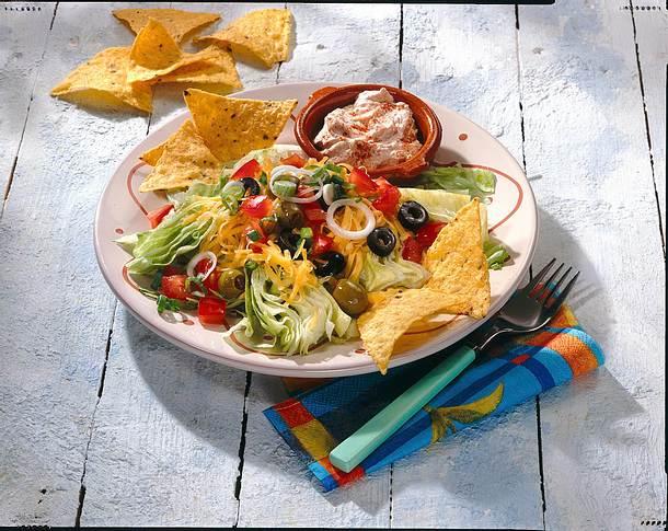 Taco Dip mit Taco-Chips Rezept