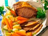 Tafelspitz mit feinem, jungem Gemüse und Zitronen-Soße Rezept
