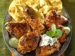 Tandoori-Chicken mit Gurken-Raita Rezept