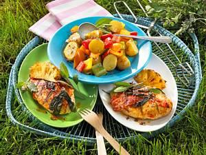 Tandoori-Hähnchen mit Kartoffel-Paprikasalat Rezept