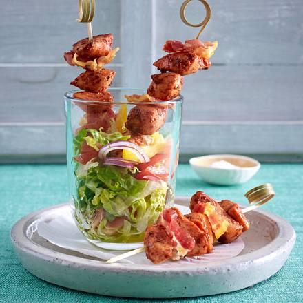 Tandoori-Spieße auf Salat Rezept