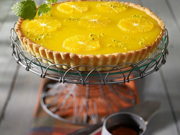 Tarte mit Orangencurd Rezept